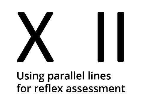 Using X and II lines for neurological assessment. Where does it come from?